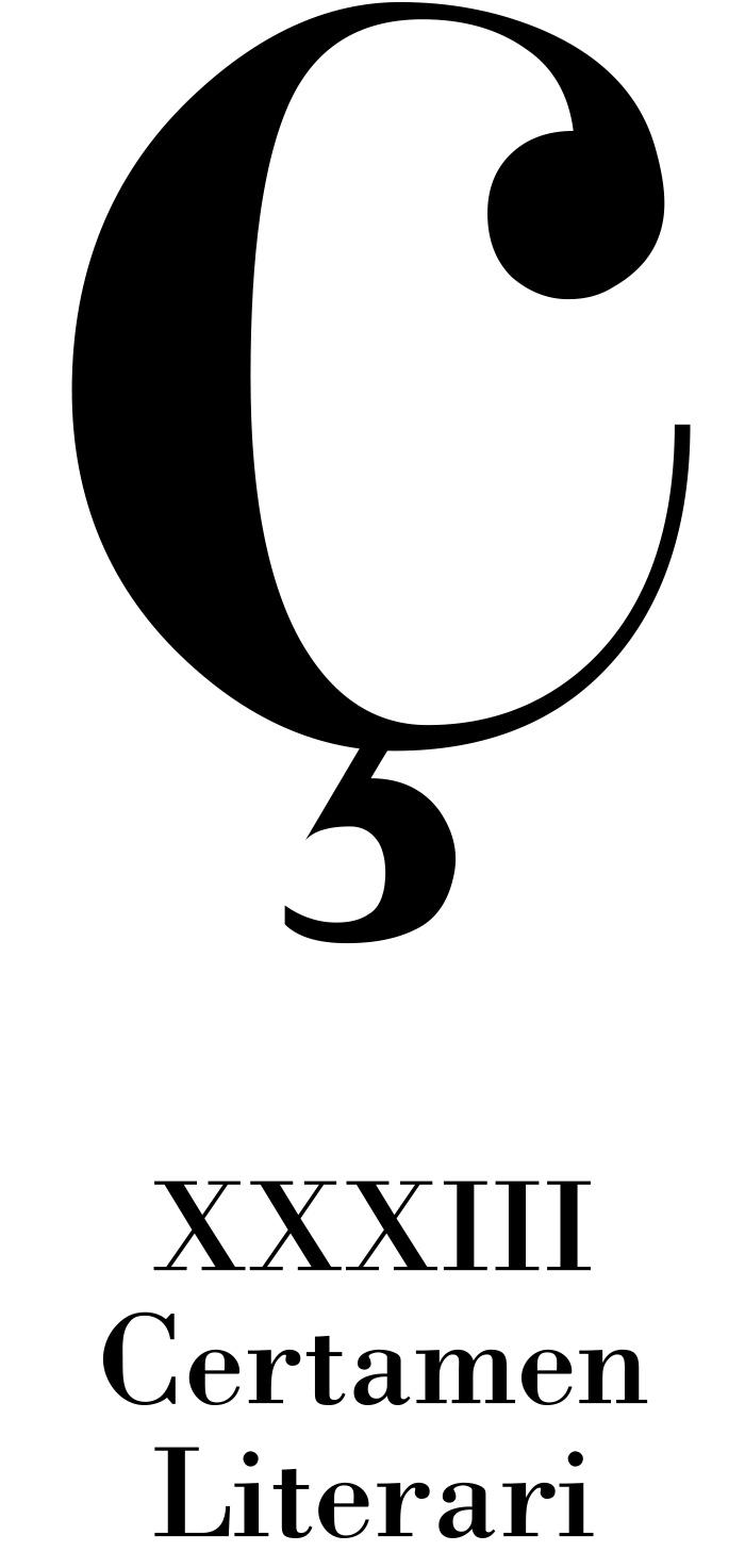 Bases del XXXIII Certamen Literari