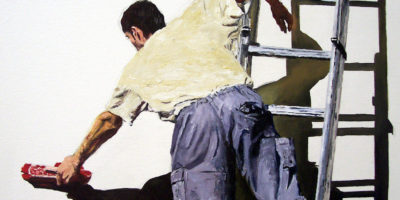 Detalle pintura El Cartel Blanco