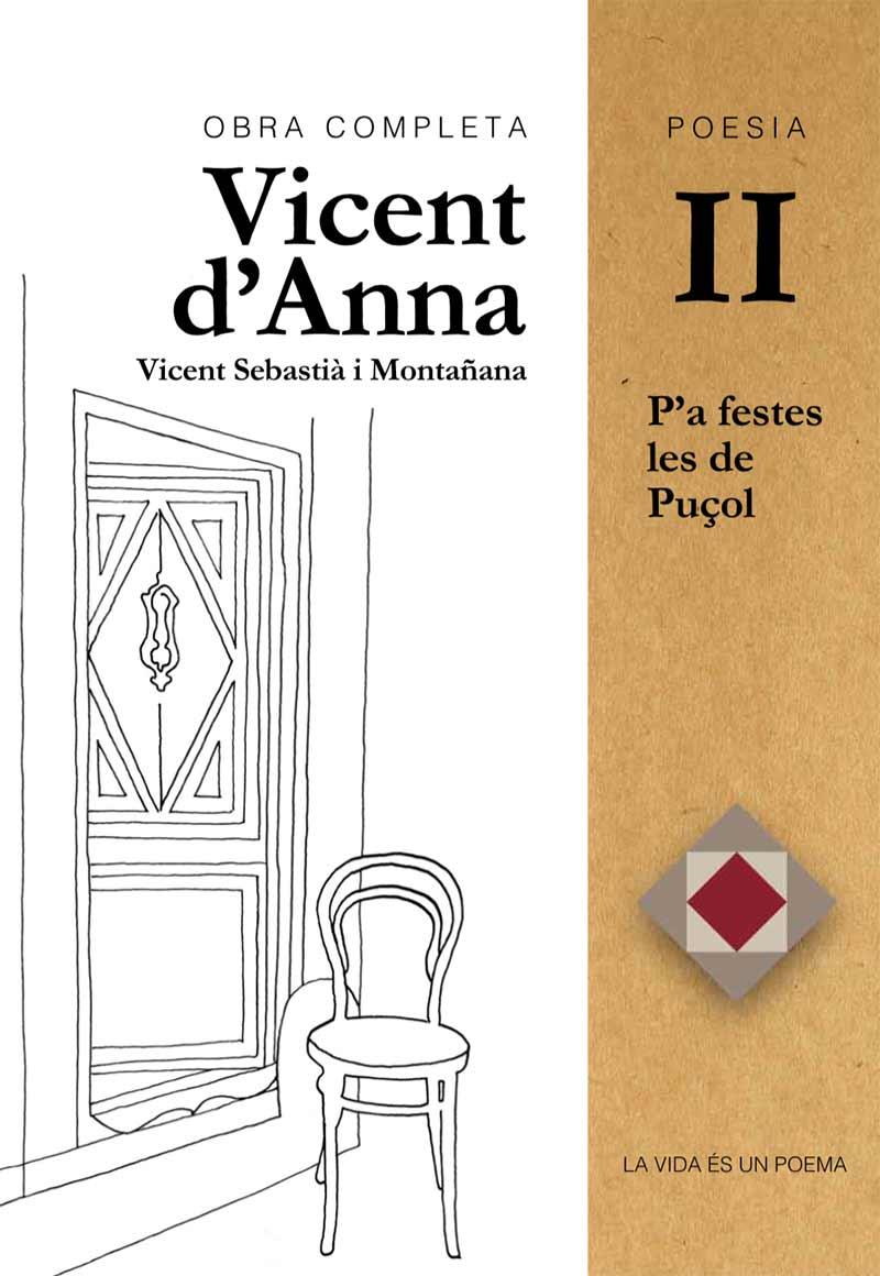 Portada Poesia Vicent d'Anna II: P'a festes les de Puçol