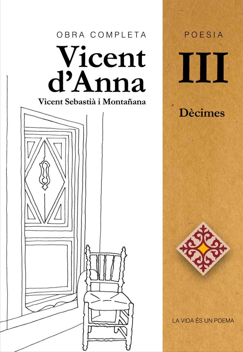 Portada Poesia Vicent d'Anna III: Dècimes